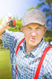 Golfing Dispute Stock Photography