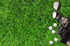 Golfing. Golf grass tee outdoor meadow club royalty free stock images