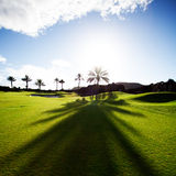 Golfing. In Gran Canaria, Spain Royalty Free Stock Photography