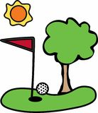 Golfing Green Royalty Free Stock Photo