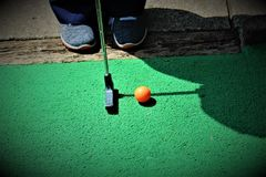 Golf In Swing stock images