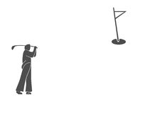 Golfing illustration Royalty Free Stock Photo