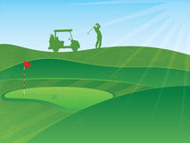 Golfing Illustration Stock Images