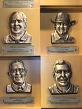 Golfing Legends. Bronze plaques of enshrined members of the World Golf Hall of Fame in St. Augustine, FL Stock Photo