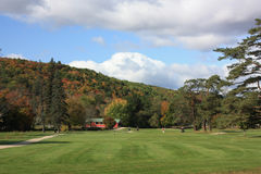 Golfing in New England. Golf Course in New England during fall Stock Photography