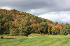 Golfing in New England. Golf Course in New England during fall Stock Photos