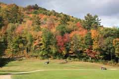 Golfing in New England. Golf Course in New England during fall Stock Photo