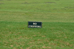 Golfing no chipping sign Stock Photos