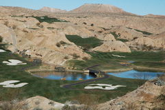 Golfing Outside Las Vegas. Desert golf is an oasis in the desert Stock Images