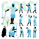 Golfing people Stock Image