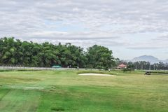 Golfing in the Philippines. Is a unique experience and is, in most cases, the views are absolutely gorgeous. Bring your clubs and your camera for an enjoyable royalty free stock photography