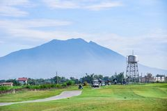 Golfing in the Philippines. Is a unique experience and is, in most cases, the views are absolutely gorgeous. Bring your clubs and your camera for an enjoyable stock images