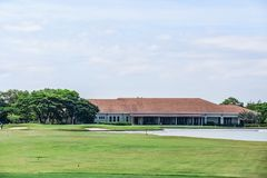 Golfing in the Philippines. Is a unique experience and is, in most cases, the views are absolutely gorgeous. Bring your clubs and your camera for an enjoyable royalty free stock photo