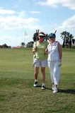 Golfing Senior women Royalty Free Stock Photos