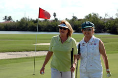 Golfing Senior women Stock Photography