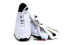 Golfing Shoes Royalty Free Stock Photography