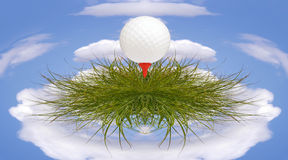 Golfing small planet concept Stock Photography