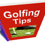 Golfing Tips Book Shows Advice For Golfers Royalty Free Stock Image