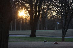 Golfing. This was taken just before sunset for you golfers Royalty Free Stock Image
