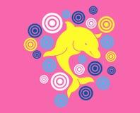 Golfinho amarelo do bebê Fotografia de Stock Royalty Free