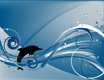 Golfinho de salto ilustração do vetor