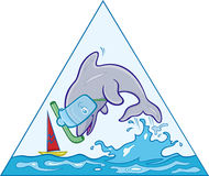Golfinho de salto Imagem de Stock