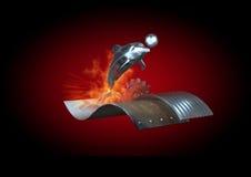 golfinho do ferro 3d Fotografia de Stock Royalty Free