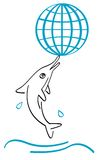golfinho e glob Imagem de Stock Royalty Free