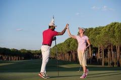 Golfinstructies stock foto's