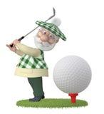 маленькое golfist человека 3d Стоковое фото RF