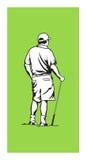 Golfista ilustración del vector