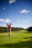 Golfista fotografia stock