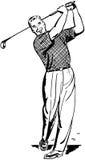 Golfista 2 ilustración del vector