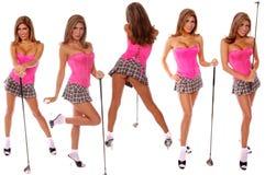 Golfista atractivo Imagen de archivo libre de regalías