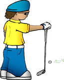 Golfista de la historieta Fotos de archivo