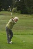Golfista de la mujer que junta con te apagado Fotos de archivo