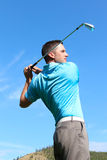 Golfista de sexo masculino imagen de archivo