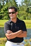 Golfista de sexo masculino imagen de archivo libre de regalías