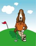 Golfista del perro stock de ilustración