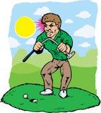 Golfista enojado stock de ilustración