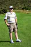 Golfista feliz Fotografía de archivo libre de regalías