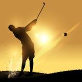 Golfista huśtawka ilustracji