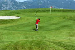 Golfista joven Imagen de archivo