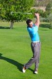 Golfista joven foto de archivo libre de regalías
