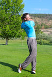 Golfista joven fotos de archivo