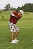 Golfista jubilado Imagen de archivo libre de regalías