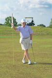 Golfista jubilado, mayor Foto de archivo libre de regalías