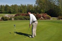 Golfista masculino fotografía de archivo libre de regalías