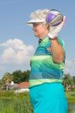 Golfista mayor foto de archivo libre de regalías