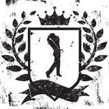 Golfista osłony insygnia royalty ilustracja